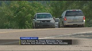 Traffic Alert: Ivory Ave to close starting next week