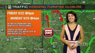 TRAFFIC: Weekend Turnpike closure (9/19/17)