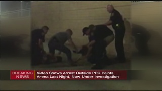 Violent arrest outside PPG Paints Arena scrutinized