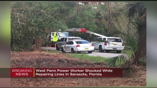 West Penn Power lineman flown to Florida hospital after being shocked