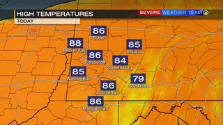 High temperatures for Saturday (9/23/17)