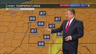 Hot, dry Sunday forecast (9/23/17)