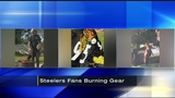 Steelers fans burning team gear