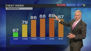 Tuesday forecast, cooler temps coming (9/25/17)