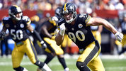 Pittsburgh Steelers linebacker T.J. Watt (90) rushes during an NFL game against the Cleveland Browns. The Steelers' second-ranked defense is relishing a shot at slowing down Jacksonville running back Leonard Fournette. (AP Photo/David Richard, File)