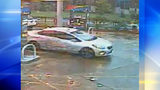 Police are seeking the driver of this car, seen on the morning of Oct. 8 at a Sunoco on Boulevard of the Allies, as part of their investigation into Alina Sheykhet's murder.