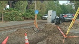 3 injured after train collides with car in Aspinwall