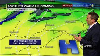 Temperatures warming up again toward weekend (10/16/17)