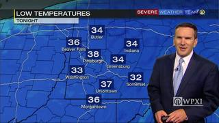 Where it will get down to near freezing Monday night (10/16/17)