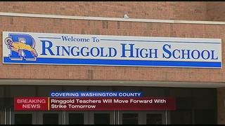 Last-minute negotiations fail, Ringgold teachers plan to strike Wednesday