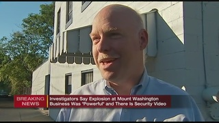 Owner of Mt. Washington business talks about explosion