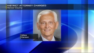 Mercer Co. district attorney faces 17 criminal charges