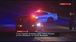 Stop sticks used to end pursuit that crossed county lines; 2 in custody