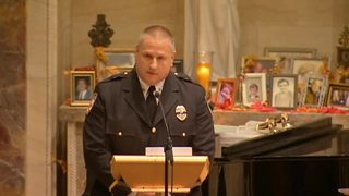 RAW: New Kensington police Chief Jim Klein eulogizes Officer Shaw