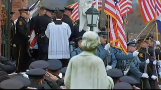 RAW: Final salute to Officer Shaw