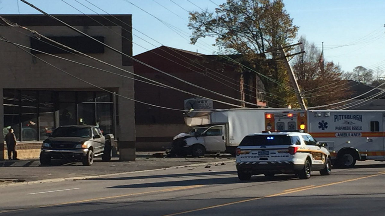 Crash brings wires down, closes part of Route 51 | WPXI