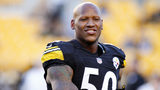 PITTSBURGH, PA - AUGUST 28: Ryan Shazier #50 of the Pittsburgh Steelers warms up before a game against the Carolina Panthers at Heinz Field on August 28, 2014 in Pittsburgh, Pennsylvania. (Photo by Justin K. Aller/Getty Images)