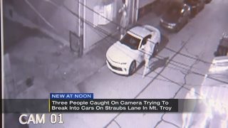 Surveillance video captures people rifling through cars in Troy Hill