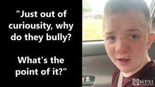 VIDEO: Bullied boy makes tearful plea