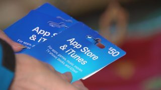 Woman falls victim to iTunes gift card scheme