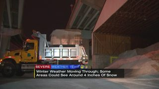 Crews preparing for winter weather moving into area