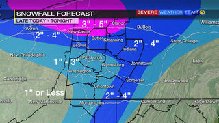 Snow impacts for Wednesday evening, overnight (12/13/17)