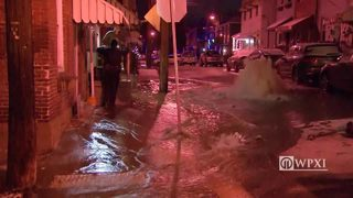 RAW VIDEO Water main break ices Lawrenceville street