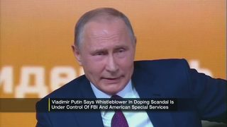 Putin blames U.S. for Russian doping scandal