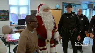RAW VIDEO: Police deliver holiday gifts to The Children