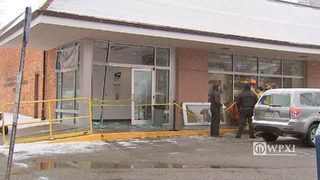 RAW VIDEO: Car crashes into Mt Lebanon post office