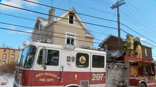 RAW VIDEO: House burns in Braddock
