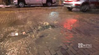 RAW VIDEO: McKees Rocks water main break