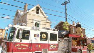 RAW: Firefighter burned in Braddock fire
