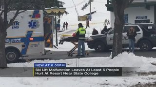 Ski lift malfunction in Central Pa. leaves 5 with minor injuries
