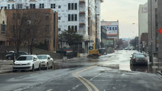 Water main break shuts down street in Pittsburgh neighborhood