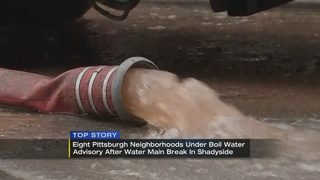 Flush and boil water advisory in place for 8 Pittsburgh neighborhoods