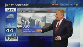 Fog, drizzle likely late Sunday night, early Monday morning