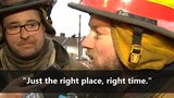 VIDEO: Firefighters rescue two people