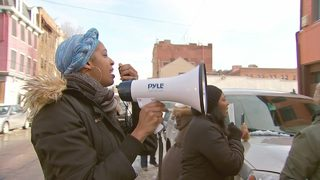Protesters demand closure of pizza shop where altercation took place