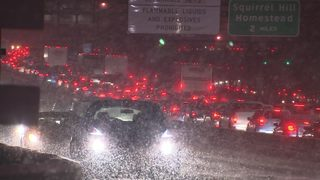 Snowy roads lead to extended evening commute, drivers concerned about lack of cleanup