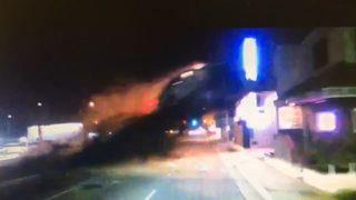 VIDEO: Dash cam catches flying car crash