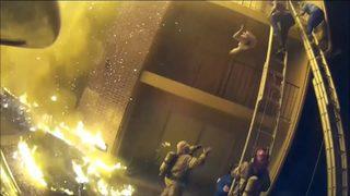 VIDEO: Firefighter rescue caught on helmet camera