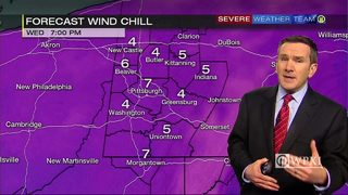Hourly look at wind chills through tonight (1/17/18)