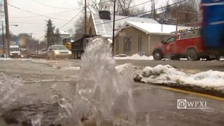 RAW VIDEO: Water continues to flow down Centre Ave