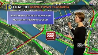 TRAFFIC: Downtown flooding (1/18/18)