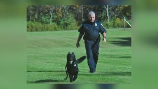 Local K-9 officer gets police escort on last patrol