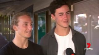 RAW VIDEO: Rescued swimmers interviewed
