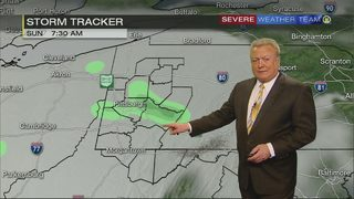 Weekend temperatures above average, rain moving in