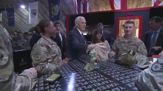 Pence visits troops in Middle East, comments on shutdown
