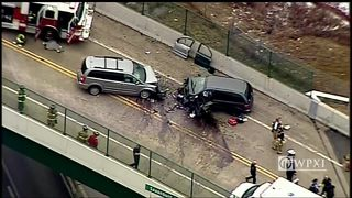 RAW: Chopper 11 over head on crash in Indiana Township